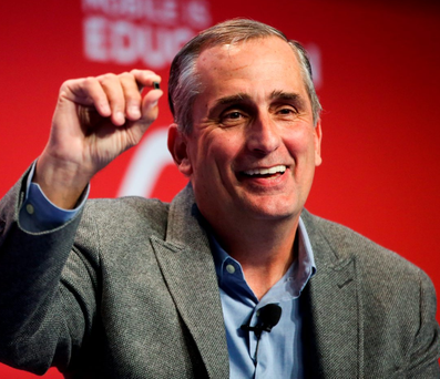 Chief executive Brian Krzanich of Intel Photo: Chris Ratcliffe/Bloomberg