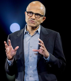 Chief executive Satya Nadella of Microsoft Photo: Andrew Harrer/Bloomberg