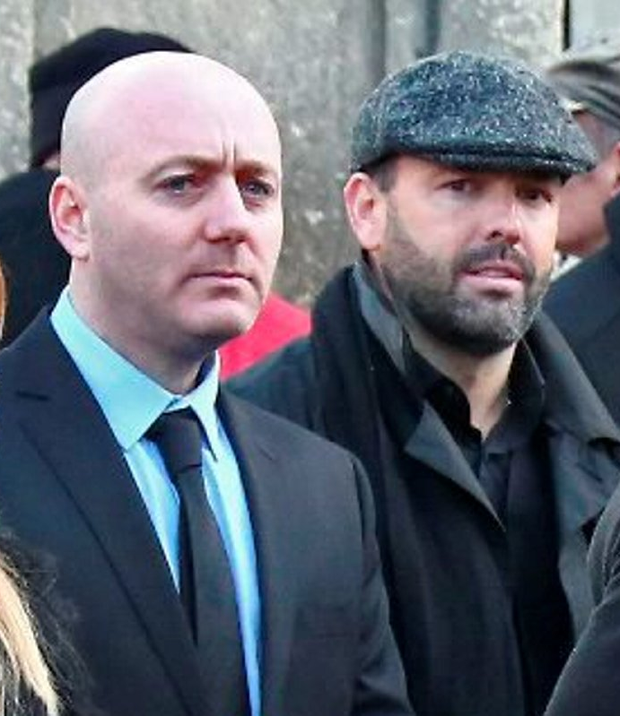 Freddie Thompson and Daniel Kinahan at the funeral of David Byrne