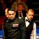 Ronnie O'Sullivan and Barry Hawkins Photo: Richard Sellers/PA Wire