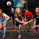 Young players at the launch of The EY Hockey League Photo: Cody Glenn / Sportsfile