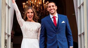 Amanda Byram sold her wedding photos to Julian Okines to Hello! magazine.