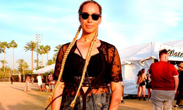 Leona Lewis attends day 1 of the 2016 Coachella Valley Music & Arts Festival Weekend 2 at the Empire Polo Club on April 22, 2016 in Indio, California. (Photo by Matt Cowan/Getty Images for Coachella)