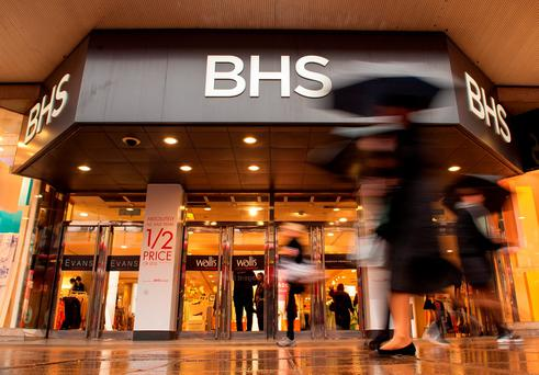 File photo dated 26/01/15 of a branch of BHS,. PRESS ASSOCIATION Photo. Issue date: Tuesday March 22, 2016. Dominic Lipinski/PA Wire