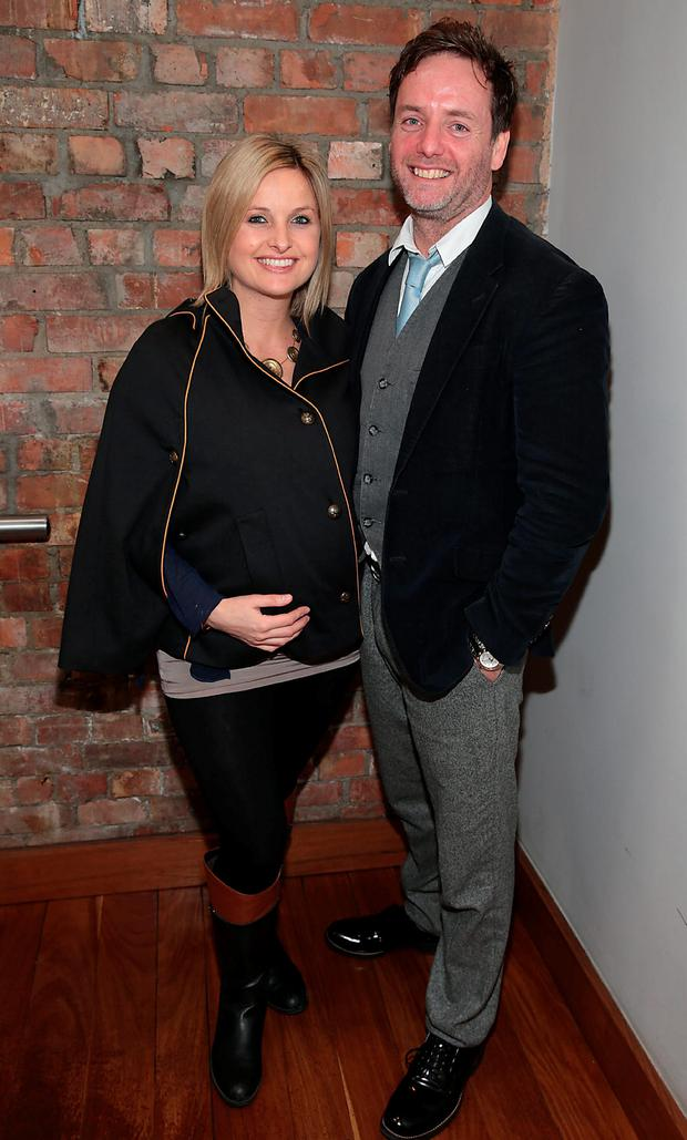 Siobhan O'Connor and John Norton at Leigh Arnold's FirstLight Charity lunch at Fade Street Social Dublin. Picture: Brian McEvoy