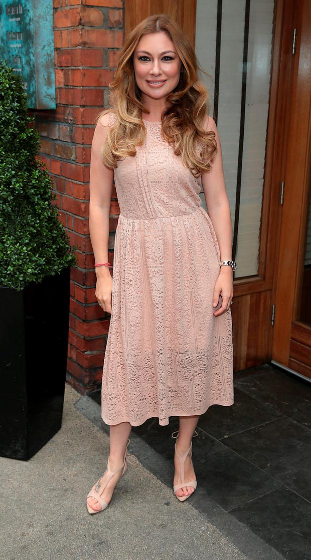 Leigh Arnold at Leigh Arnold's FirstLight Charity lunch at Fade Street Social Dublin. Picture: Brian McEvoy