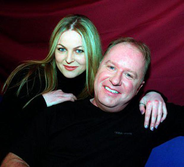 Amanda Brunker at Renards with the late Tony Fenton