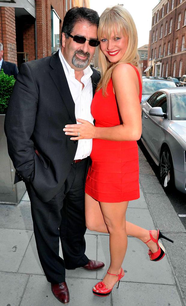 Robbie Fox and Amanda Brunker at the launch of Amanda Brunker's second novel 'Champagne Babes' at Renards Nightclub in 2009