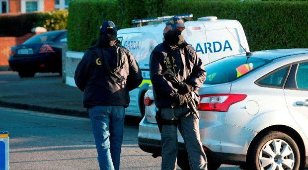 Armed gardai. Stock picture