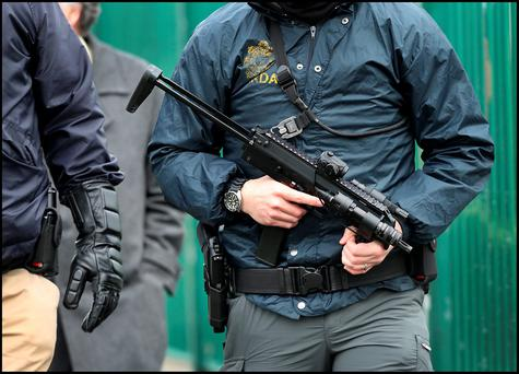 Armed Gardai - stock picture