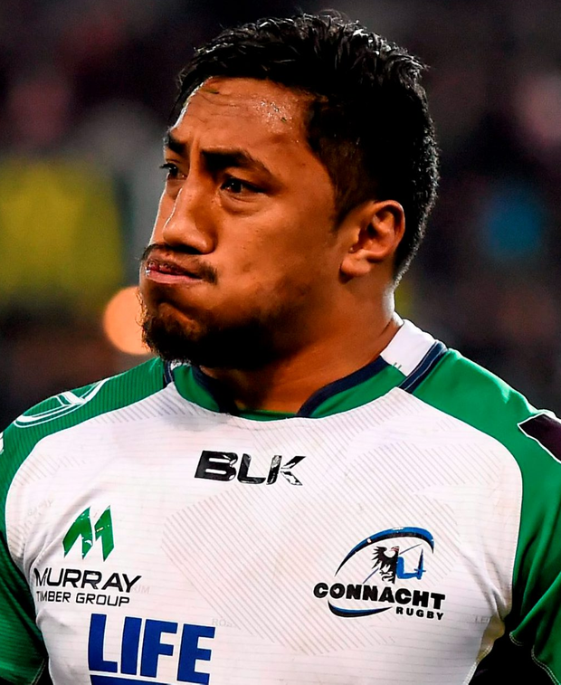 A knee injury has put Bundee Aki out of contention for Connacht Photo: Stephen McCarthy / SPORTSFILE
