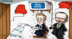 A BUSTED FLUSH: 'If water charges are 'suspended', for any length of time it would be a brave – and some might say politically reckless – government that will attempt to re-introduce them'