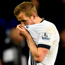 Tottenham's Harry Kane looks dejected after his side's draw with West Brom Reuters / Dylan Martinez.
