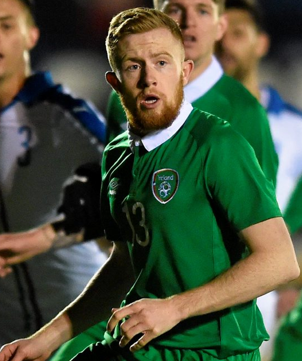 St Patrick's Athletic defender Sean Hoare in action here for Ireland Under-21s against Italy last month Photo: Matt Browne / SPORTSFILE