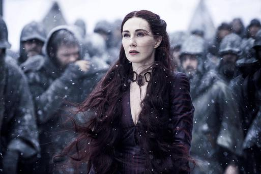 Carice van Houten as the evil but undeniably alluring Melisandre