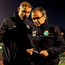 Shamrock Rovers manager Pat Fenlon, right, makes his way off the pitch after the game Photo: Eóin Noonan/SPORTSFILE