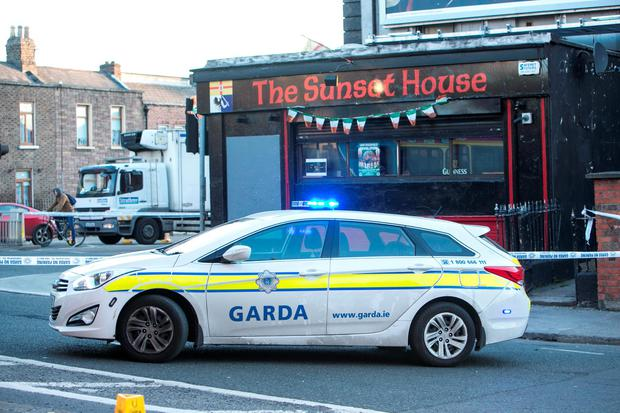 Scene of the Fatal Shooting of a male in Summerhill. Photo Kyran O'Brien