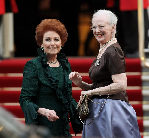 Lady Elizabeth Anson and Queen Margrethe II of Denmark. (Photo by Chris Jackson/Getty Images)