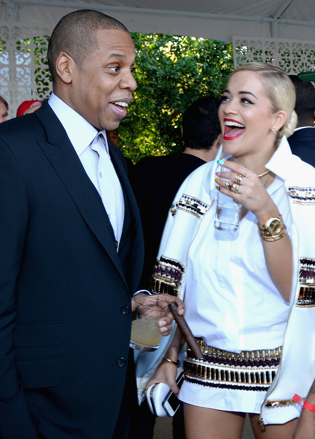 Jay Z and Rita Ora. Photo: Getty Images