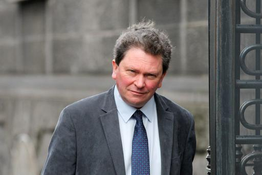 Food critic Tom Doorley has told a court he suffered two broken shoulders when he was knocked down by a taxi in Dublin city-centre. Photo: Collins Courts