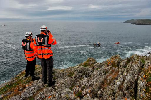 Rescue teams search off the Beacon in Baltimore, Co Cork. Pic Daragh Mc Sweeney/Provision