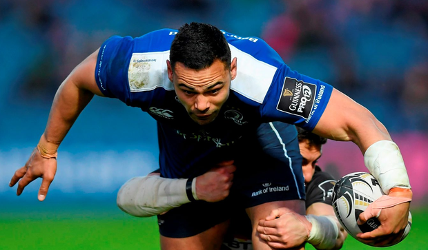 Leinster's Ben Te'o is tackled by Edinburgh's Damien Hoyland in their recent PRO12 clash at the RDS Arena, Ballsbridge (SPORTSFILE)