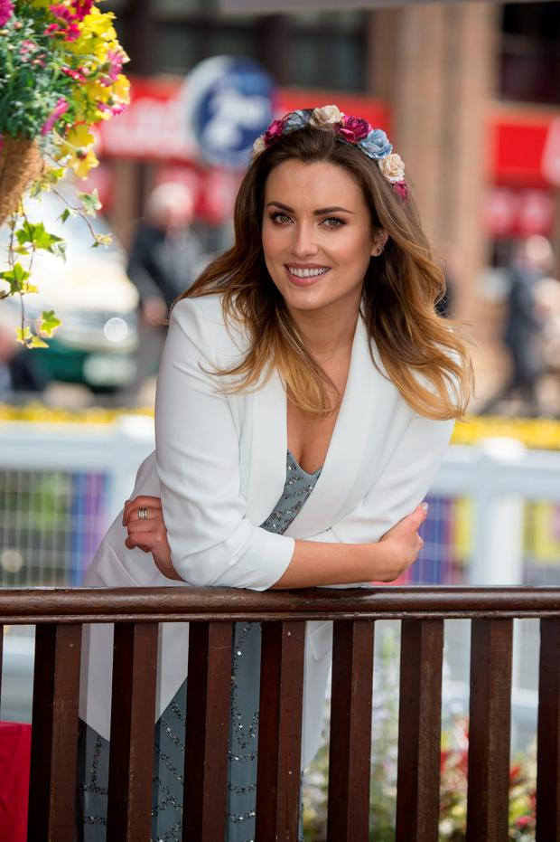 Holly Carpenter at the opening day of the Punchestown Festival. Picture: Michael Chester