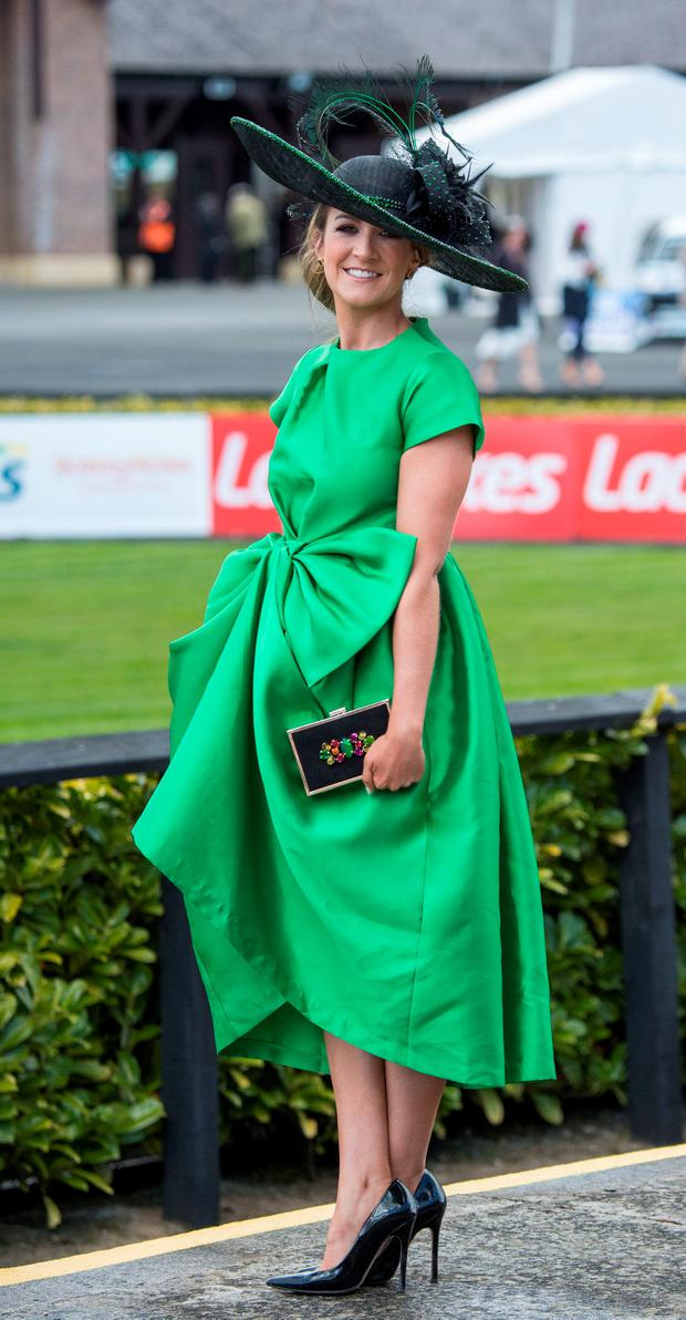 Rebecca Quigley from Monaghan at the opening day of the Punchestown Festival. Picture: Michael Chester