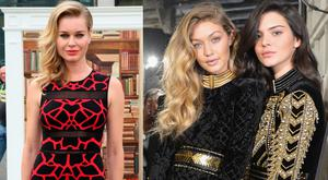 Rebecca Romijn (left) and Gigi Hadid with Kendall Jenner (right)
