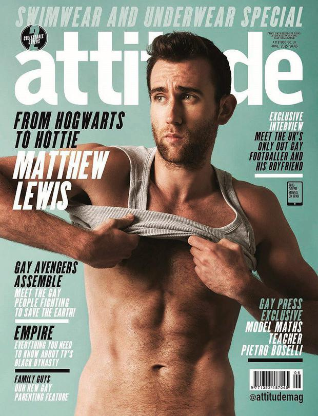 Matthew Lewis on the cover of Attitude magazine