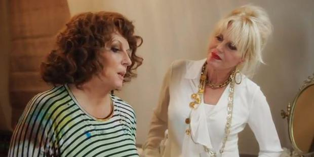Edina and Patsy in Absolutely Fabulous movie