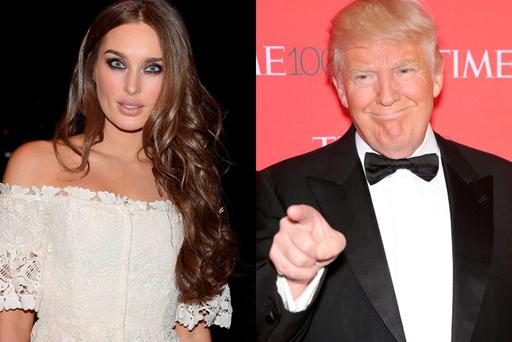 Roz Purcell (left) and Donald Trump (right)