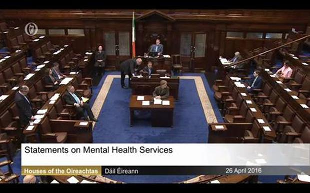A screenshot of Tuesday's mental health debate posted by the Rubberbandits/Facebook