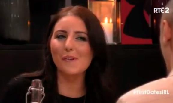 Ciara on First Dates Ireland