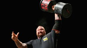 Hafthor Julius Bjornsson of Iceland competes in the Arnold Classic Professional Strongman competition during the 2016 Arnold Classic on March 19, 2016 in Melbourne, Australia. (Photo by Quinn Rooney/Getty Images)