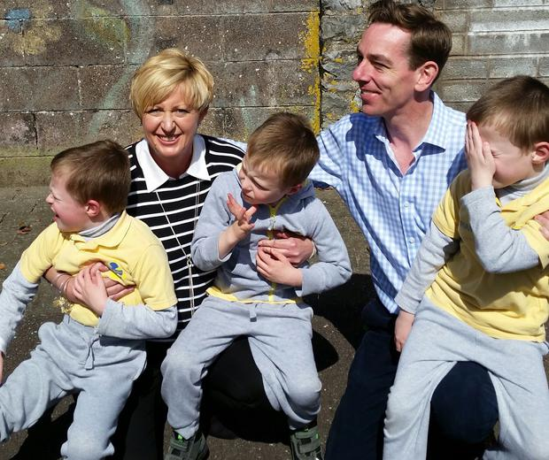 Avlyn McKeown and Ryan Tubridy with Alex, Kyle and Rian. Photo: McKeown family