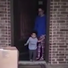 Little Amari Jackson bids goodbye to his grandmother in the most adorable way.