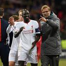 Jurgen Klopp and Mamadou Sakho (Photo by John Powell/Liverpool FC via Getty Images)
