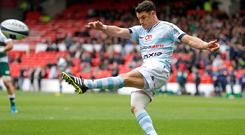 Dan Carter in action for Racing Metro during their victory over Leicester. Photo: Reuters