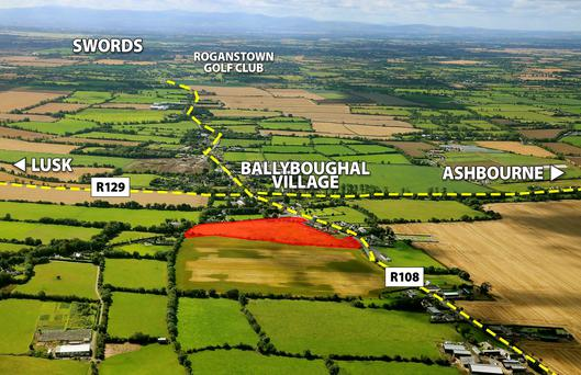 The 10.5 acre site at Ballyboughal in north county Dublin.