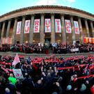 A vigil in Liverpool for the victims of Hillsborough. Photo: Getty