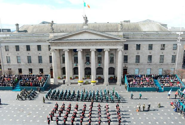 The 1916 Rising centenary events coupled with an extensive St Patrick's Festival helped draw 702,700 foreign visitors here in March. Photo: Cpl Colum Lawlor
