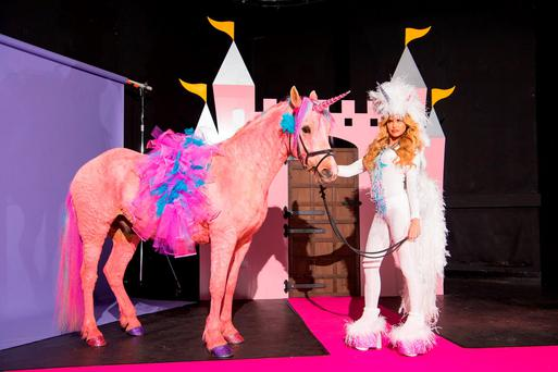 Katie Price during a photocall to launch her new reality television show, Katie Price's Pony Club, at The Worx in London. Photo: Dominic Lipinski/PA Wire
