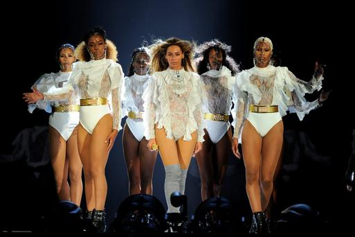 MIAMI, FLORIDA - APRIL 27: In this handout photo provided by Parkwood Entertainment, Beyonce performs during the opening night of the Formation World Tour at Marlins Park on April 27, 2016 in Miami, Florida. (Photo by Frank Micelotta/Parkwood Entertainment via Getty Images)