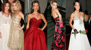(L to R) Mary Kate and Ashley Olsen; Victoria Beckham; Jessica Simpson and Rihanna