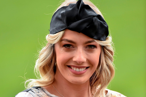 RTE presenter Blathnaid Treacy at the day's races. Punchestown, Co. Kildare. Picture credit: Matt Browne / SPORTSFILE