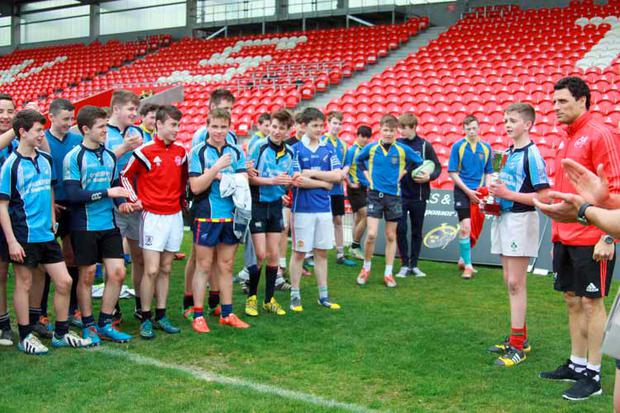 Doug Howlett pictured at the winners presentation in Irish Independent Park