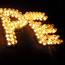 Candles laid out during the 2012 Darkness Into Light 5K Charity Road Race Photo: Sportsfile