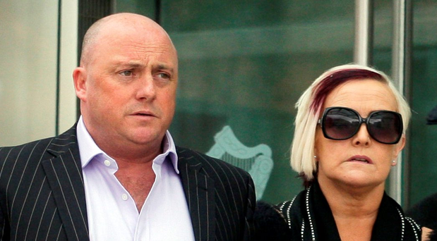 Dave Mahon and his wife Audrey entering court (Courtpix)