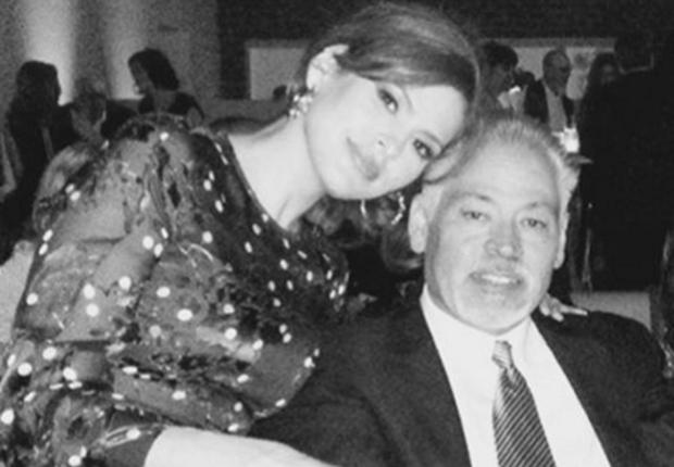 Eva Mendes with her brother Juan Carlos